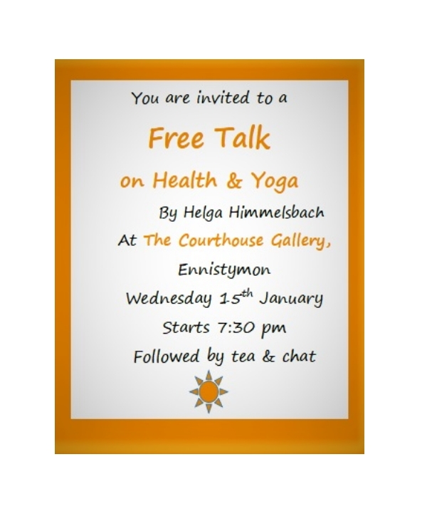 Free Talk on Health & Yoga
